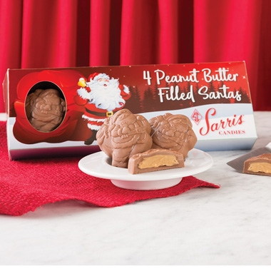 Four Piece Peanut Butter Santa Box