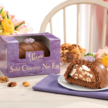Solid Chocolate Nut Egg
