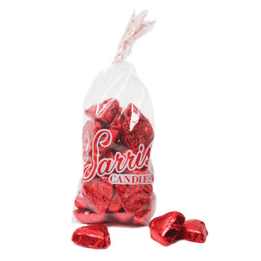 Foiled Red Hearts Bag