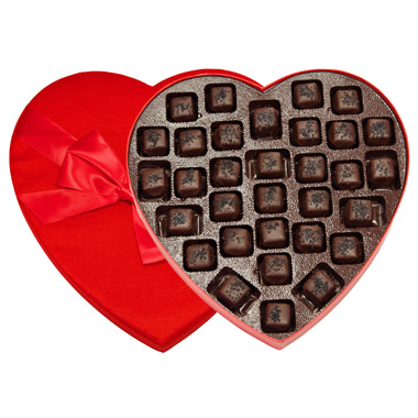 Heart - Salted Dark Caramels