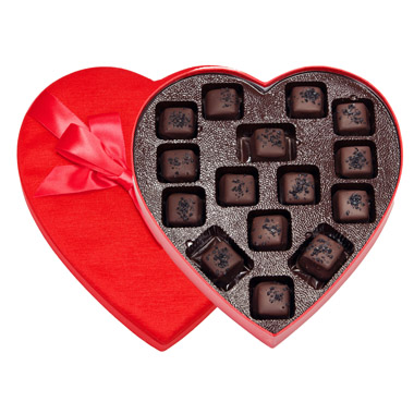 Heart- Salted Dark Caramels