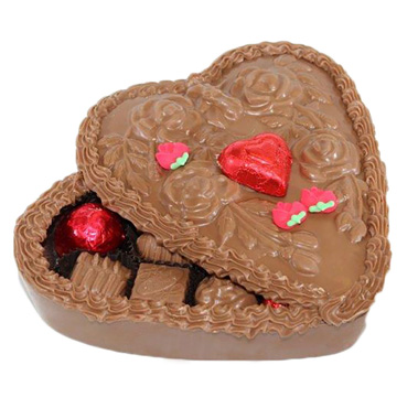 Chocolate Heart Box with Roses