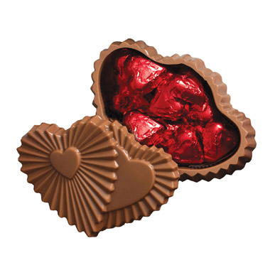 Ruffle Chocolate Twin Heart Foil