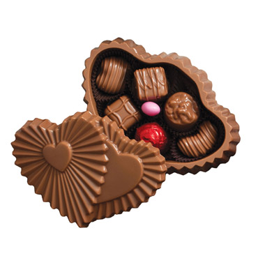 Ruffle Chocolate Twin Heart