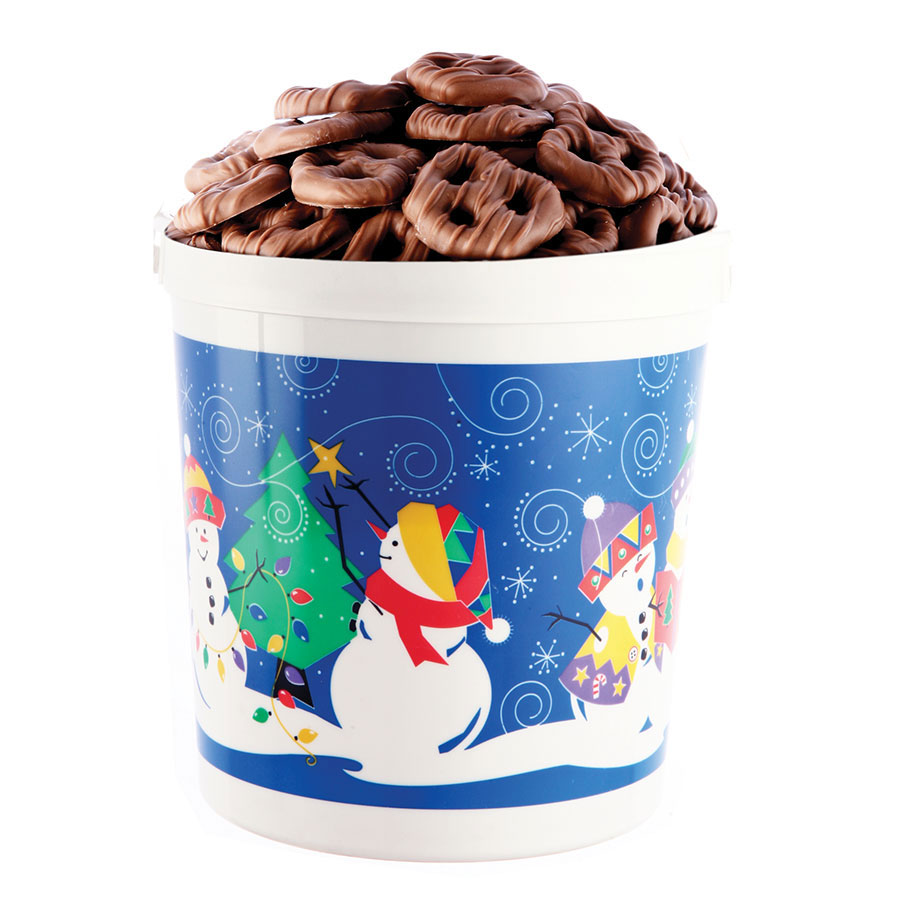 Christmas Mini Pretzel Pail Dark