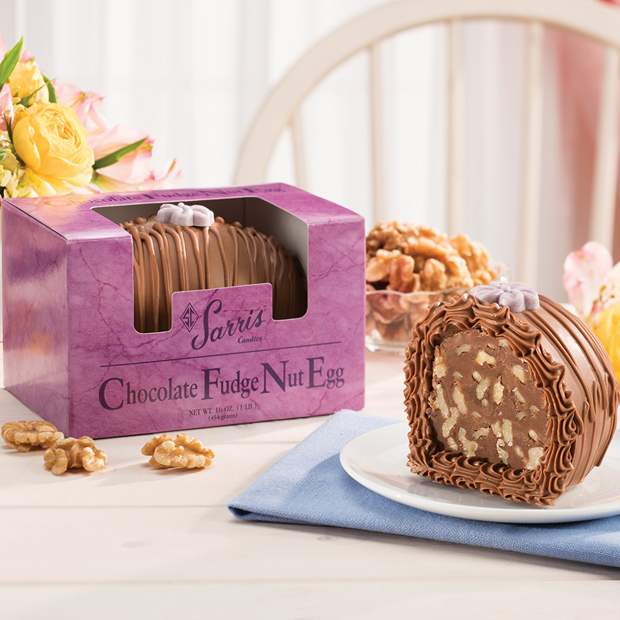Chocolate Fudge Nut Egg 1 lb.