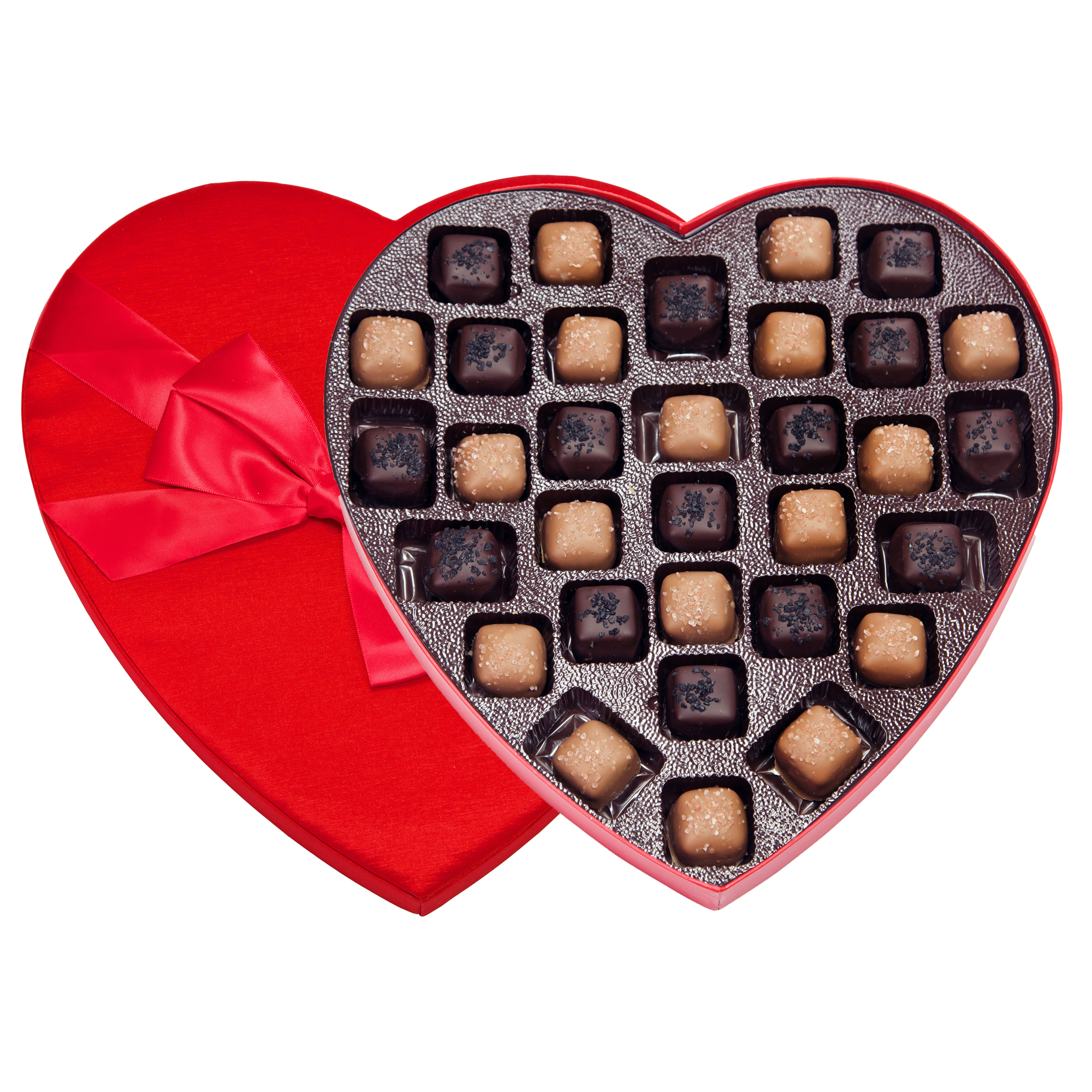 Heart- Salted Dark & Milk Caramels